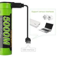 노트북 배터리 충전 배터리 전원 은행 4 LED 표시기 USB 5000M 18650 3.7V 3500mAh 지능형 리튬 이온 충전지
