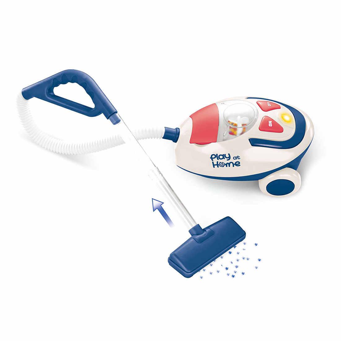 Vacuum Cleaner Mini Simulation Home Kids Appliance Miniature Children Blue/&White