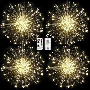 120/150 LEDs Solar Fireworks Lights LEDs Outdoor Waterproof Home Garden Street Christmas Decoration