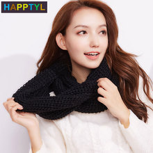 HAPPTYL 1Pcs Scarf Winter Scarves Chunky Neck Warmer Scarves for Women Scarves  winter    Fashion  Warm Multicolor knit multi function winter warm scarves soft beanies hat cap female girls red ring scarf mask chunky circle loop scarves neck warmer