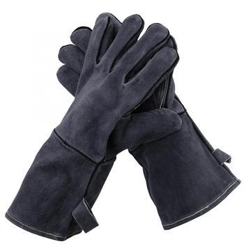 Guante de resistencia al calor 500C guantes de soldadura antideslizantes guantes de cocción de barbacoa resistentes al corte para el funcionamiento en caliente equipo de protección del cuerpo
