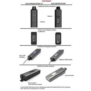 Image 5 - ALD AMAZE Wow V2 V1 Kit de vaporisateur dherbes sèches vaporisateur de cigarettes électroniques à base de plantes Portable Vape stylo et 0.96 pouces grand écran OLED