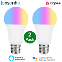 Lonsonho ZigBee 3.0 Tuya Smart Led lampadina E27 220V 110V RGB W C funziona con Smartthings Alexa Echo Hub Google Home