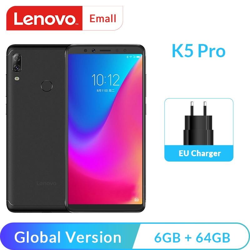 Global Version Lenovo K5 Pro 64GB/128GB Snapdragon 636 Octa Core Smartphone 5.99
