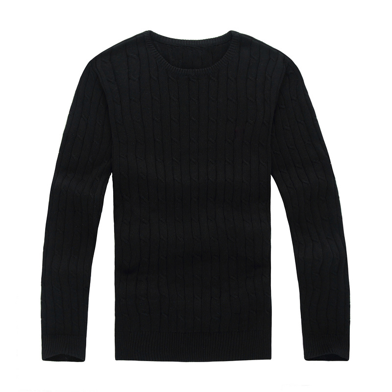 Men Small Pony O-neck 100%cotton Sweater Autumn Winter Jersey Jumper Hombre Pull Homme Hiver Pullover Men Knitted Sweaters