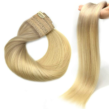 Straight Halo Hair Extensions With Invisible Hidden Wire Hair