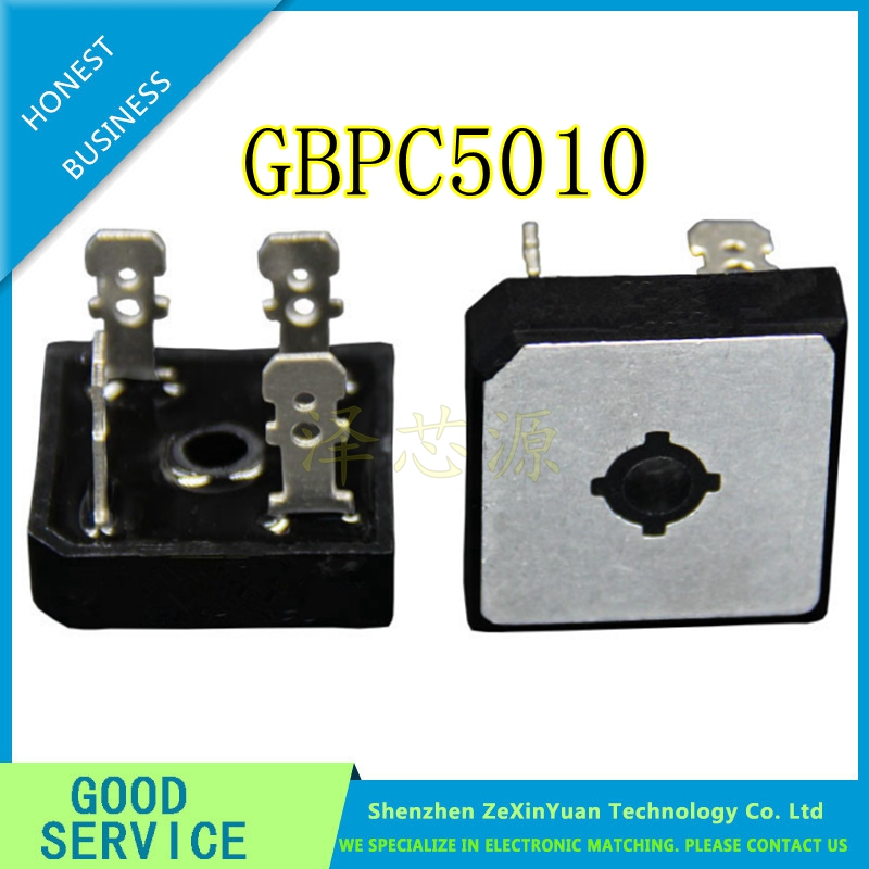 10PCS GBPC5010 Bridge Rectifiers 1000V 50A Bridge Rectifier New Original