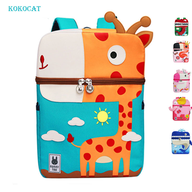 Unicorn Backpack Mochila School-Bag Dinosaur Anti-Lost-Printed Kindergarten Cartoon Kid
