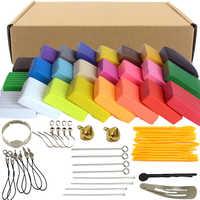 24 farben x20g Ofen Backen Fimo Polymer Clay Modellierung Ton Floam Schleim Spielzeug Flauschigen Schleim Box Licht Plastilin für Kinder DIY