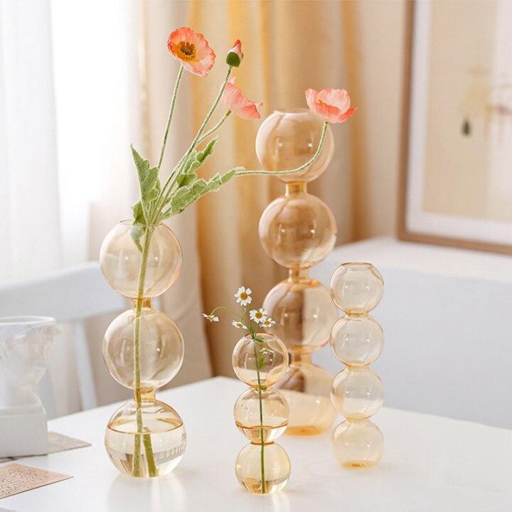Vase en verre de décoration intérieure, Vase en cristal, plantes hydroponiques modernes, frais européens pour mariages, événements, fêtes créatives 6