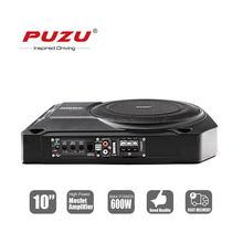 PUZU-subwoofer activo para asiento de coche, 10 pulgadas, con caja de aluminio, gran potencia de salida, 600W