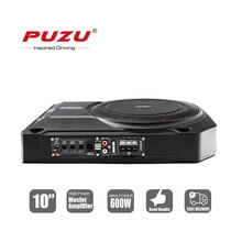 "PUZU 10""inch car seat active subwoofer with aluminum case big output power 600W"