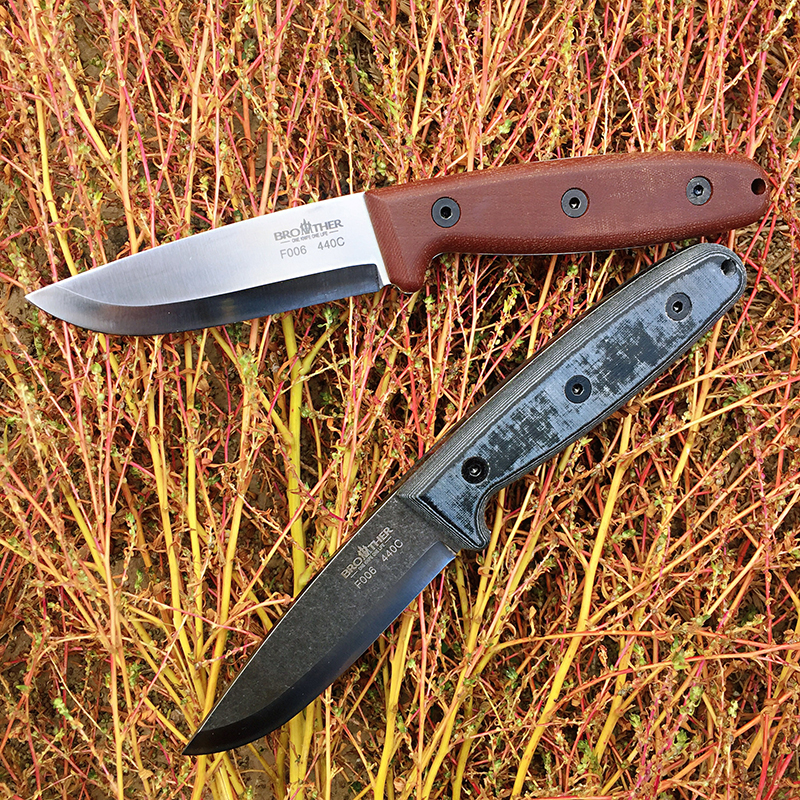 BROTHER F006  60HRC 440C blade Fixed Blade knife Scandi Bushcraft Knives Straight Tactical Hunting Camping EDC tool