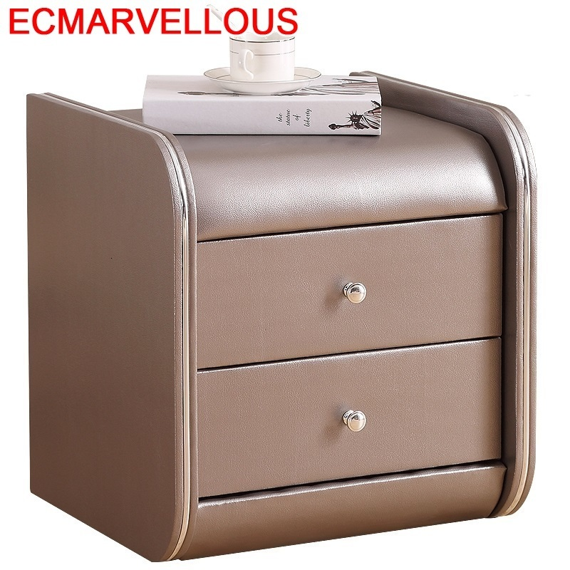 Para El Mobilya Mesa Noche Meuble Maison European Pu Leather Mueble De Dormitorio Bedroom Furniture Quarto Cabinet Bedside Table