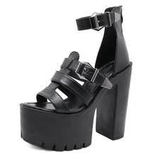 chunky heels sandalias mujer small size womens shoes punk sandals Chunky Sandals High Heels Gladiator Sandals women LJB116 chunky heel sandals punk shoes sandals high heels platform sandals women summer shoes sandalias romanas women s sandals yma160
