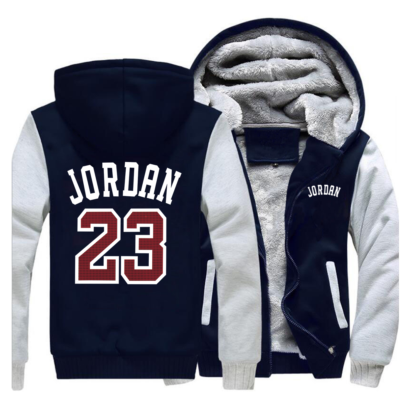 Winter 2019 Hot Sale Coat Thick Hoodies Jordan 23 Fashion Hip Hop Zipper Sweatshirts Raglan Mens Funny Warm Clothing Sportswear