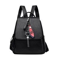 Fashion Women Backpacks High Quality Youth Leather Backpack for Teenage Girls Female School Bags Shoulder Bag Bagpack mochila