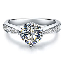 F VS1 Test Positive White Gold Jewellery 14K 0.6CT Moissanite Diamond Ring Jewelry Engagement for Women AU585 Ring Prongs Heart(China)