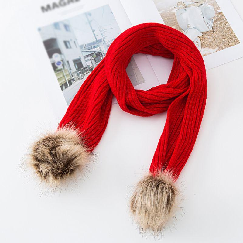 Baby Kids Neckerchief Winter Warm Scarves Boys Girl Kids Cute Simple Knitted Scarf