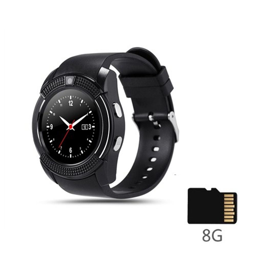 V8 SmartWatch Bluetooth Smart Watch Touch Screen Wrist Watch With Camera SIM Card Slot Waterproof Sports Watch For Android