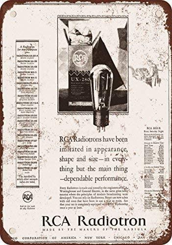 1928 радиотронные трубки RCA, жестяные вывески с принтом, легко крепятся, устойчивые к атмосферным воздействиям, долговечные забавные вывески, ...