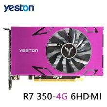 Yeston grafik kartı R7 350-4G 6HDMI 6 ekran desteği bölünmüş ekran 4GB bellek GDDR5 128Bit 4500MHz VGA + HDMI + DVI-D grafik kartı