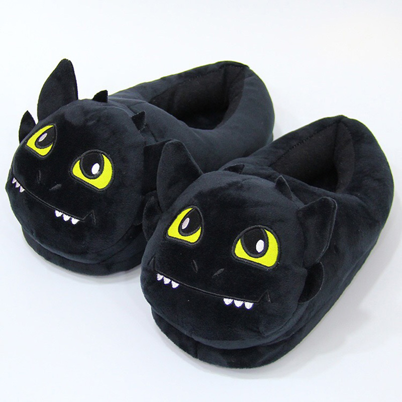 How To Train Your Dragon Toothless Plush Slipper Night Light Fury Stuffed Slipper Winter Indoor Warm Shoes
