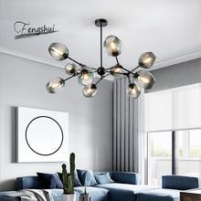 цена Nordic Glass LED Chandeliers LOFT Hanging Lamps for Living Room Bedroom Chandelier Lighting Ball Kitchen Bar Fixtures Luminaire онлайн в 2017 году