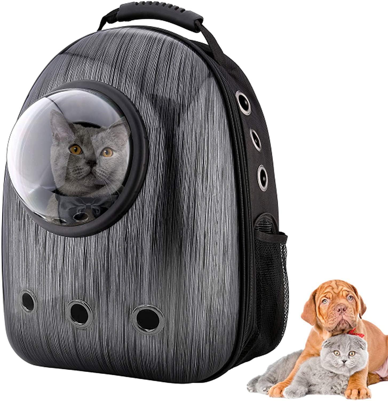 Sac à dos pour chat et petit chien, Capsule spatiale approuvée par la compagnie aérienne, imperméable et respirant conçu pour les voyages, la randonnée et l'extérieur
