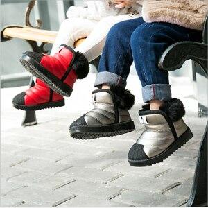 Image 4 - ילדים בנות שלג נערי נעלי חורף חם קטיפה רך תחתון ילדי אופנה תינוק בני פעוט נעליים