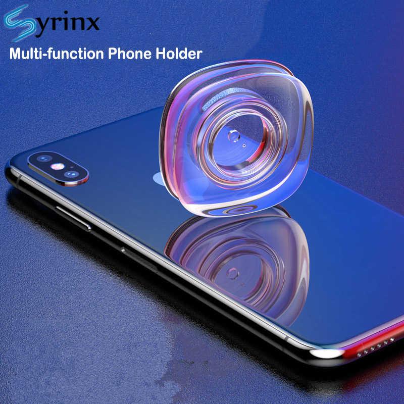 Borracha nano multi-função suporte do telefone para sucção de parede carro suporte do telefone cabo dobadoura forte adsorção gel almofada de mesa adesivo