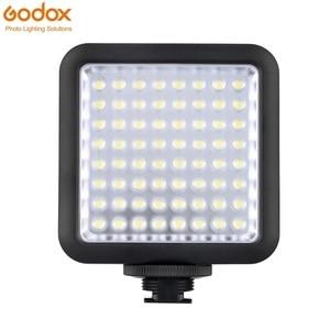Image 1 - Đèn Flash Godox LED64 Video 64 Đèn LED Kép Nguồn Điện 5500 ~ 6500K Máy Ảnh DSLR Nhỏ DVR Cưới tin Tức Về Cuộc Phỏng Vấn
