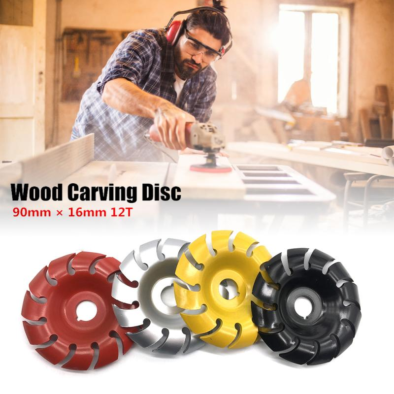 Wood Carving Disc 90mm 12T Woodworking Angle Grinding Wheel Manganese Steel Sanding Shaping Tools For100 115 Angle Grinder