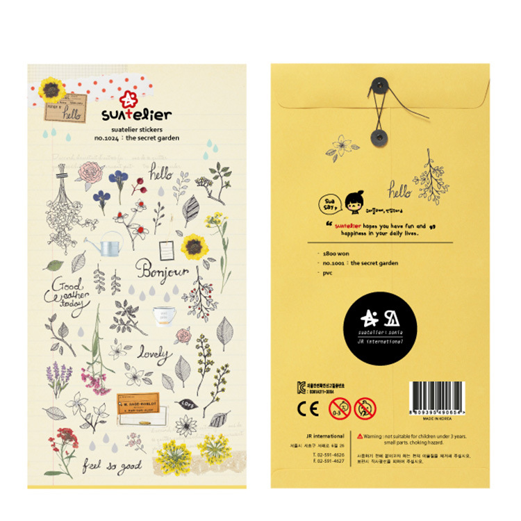Flower Leaves Bullet Journal Decorative Stationery Stickers Scrapbooking DIY Diary Album Stick Label