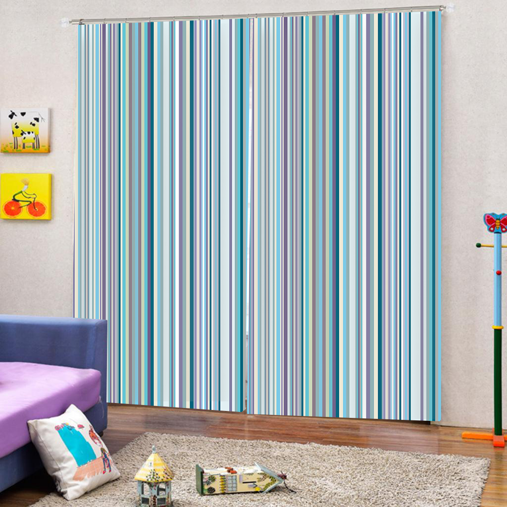 2019 Modern Thick Blackout Curtains For Living Room Blue Striped Window  Curtains For Bedroom Blackout Home Drapes From Copy02, $97.86 | DHgate.Com