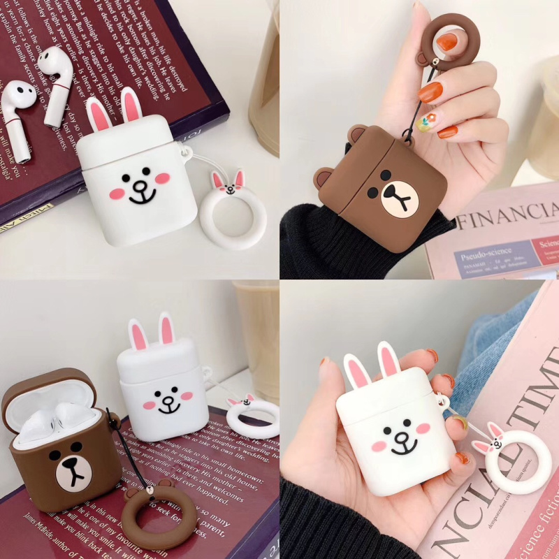 Bluetooth Earphone Case for huawei Protective Cover Bag Anti-lost Strap Cute Cartoon Silicone Charging box case Accessories