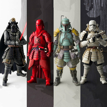 Star Wars Action figure Black series Jedi knight Master Yoda Boba Fett Model Black Samurai Anime figure Toy for Kids Decoration play arts kai square enix star wars boba fett figma movable playarts pa variant speelgoed action figure model