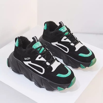Women Platform Chunky Sneakers 5cm High Lace-up Casual Vulcanize Shoes Luxury Designer Old Dad Female Fashion Sneakers 2019 New