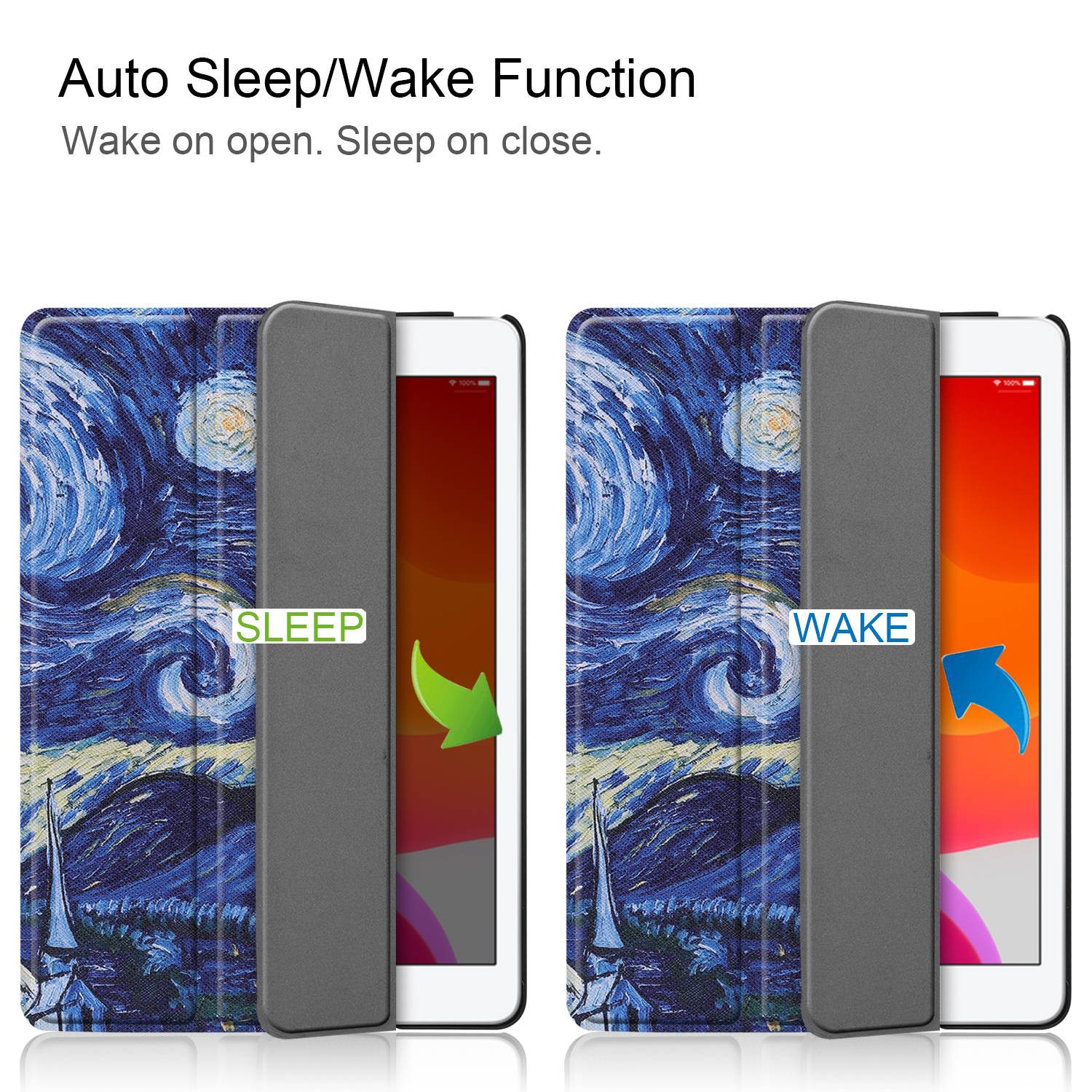 iPad/8th/Cas Magnetic A2428/a2429 8-8th-Generation for Case Smart-Cover iPad Sleep Apple