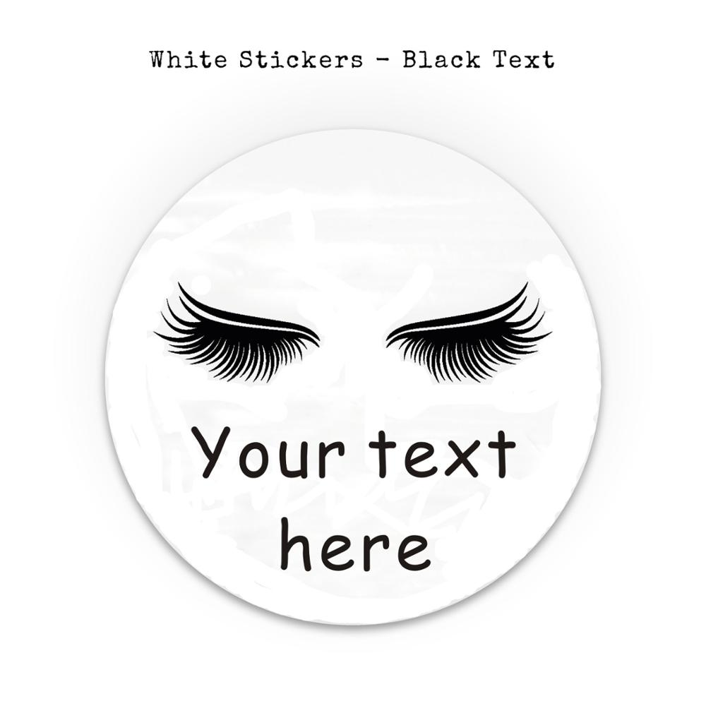 Custom Eyelashes Vinyl Sticker, Best Friend Gift, Laptop Decals, Cute Stickers, Decal, Macbook Decal, Stickers image