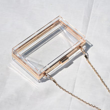Transparent Shoulder Bag For Women Acrylic Clutch Purse and Handbag Party Wedding Clutch Evening Bag Black Female Wallet ZD1431(China)
