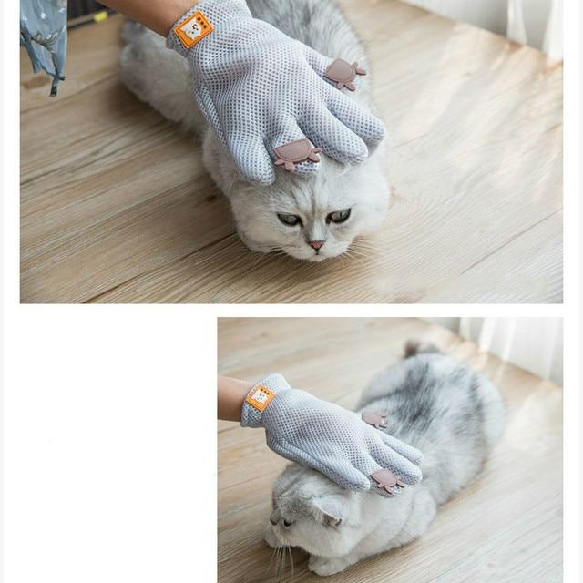 Фото универсальные варежки для удаления шерсти кошек перчатки груминга цена