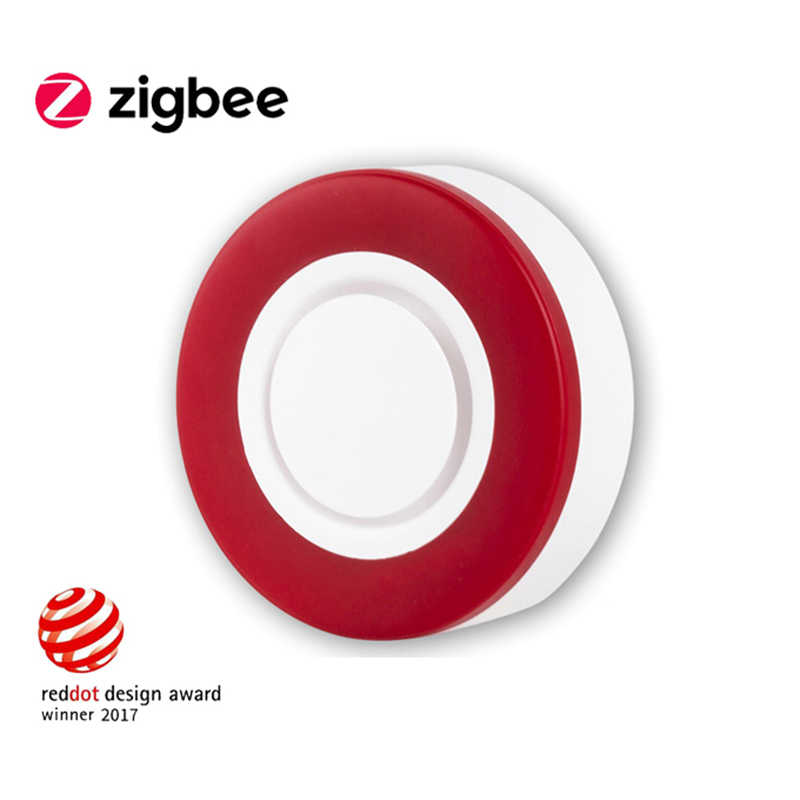 Haozee Zigbee Sirene Alarm Sensor Für Home Smart Gerät HA 1,2 Smart Strobe-Sirene Horn Alarm Sound Mit 95DB big Sounds