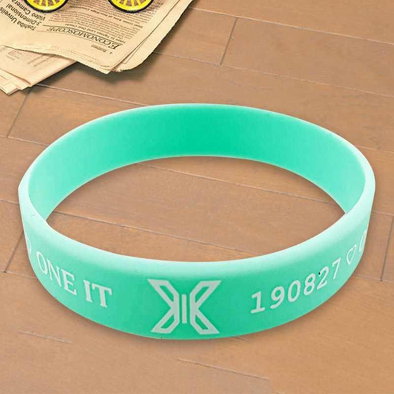 X1 X UNA Combinazione di Produrre X 101 Nuovo Album SALTO di qualità di Stampa Wristband Del Braccialetto Del Gel di Silice Stesso Colore K- pop di Nuovo Modo