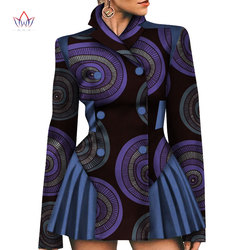 Afrikaanse Jas Vrouwen 2019 Nieuwe Mode Katoen Traditionele Afdrukken Jassen Voor Lady Coat Outwears Korte Blouse Vrouwelijke WY4398