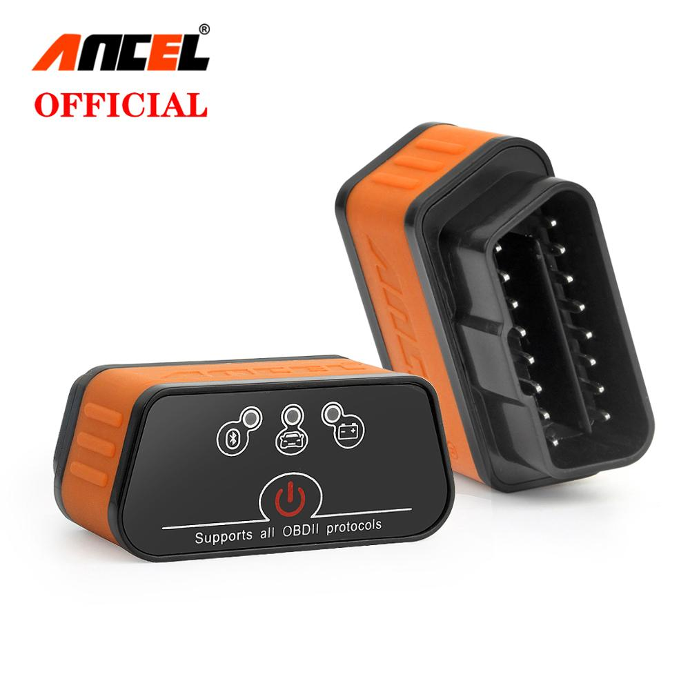 ANCEL BD100 Professional Bluetooth OBDII Scan Tool Auto Check Engine Light Car Code Reader Scanner Support All OBD2 Protocols for Android Devices
