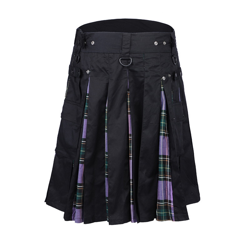 Men's Fashion Plaid Summer Casual Shorts Ethnic Style Scottish Skirt Exquisite High Quality Traditional Skirt