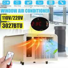 3027BTU przenośny klimatyzator 220V/110V AC na zimno/ciepła podwójnego zastosowania 24-licznik godzinowy oświetlenie LED panel sterowania z pilot zdalnego sterowania