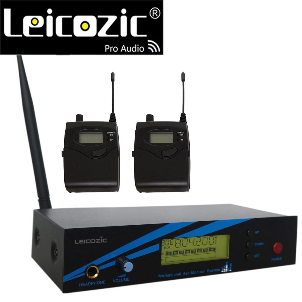 Leicozic L-500 IEM System UHF In-ear-Monitor-System Auf-Bühne Monitor System Aufnahme Studio 300iemg2 G2 2 empfänger + Sender