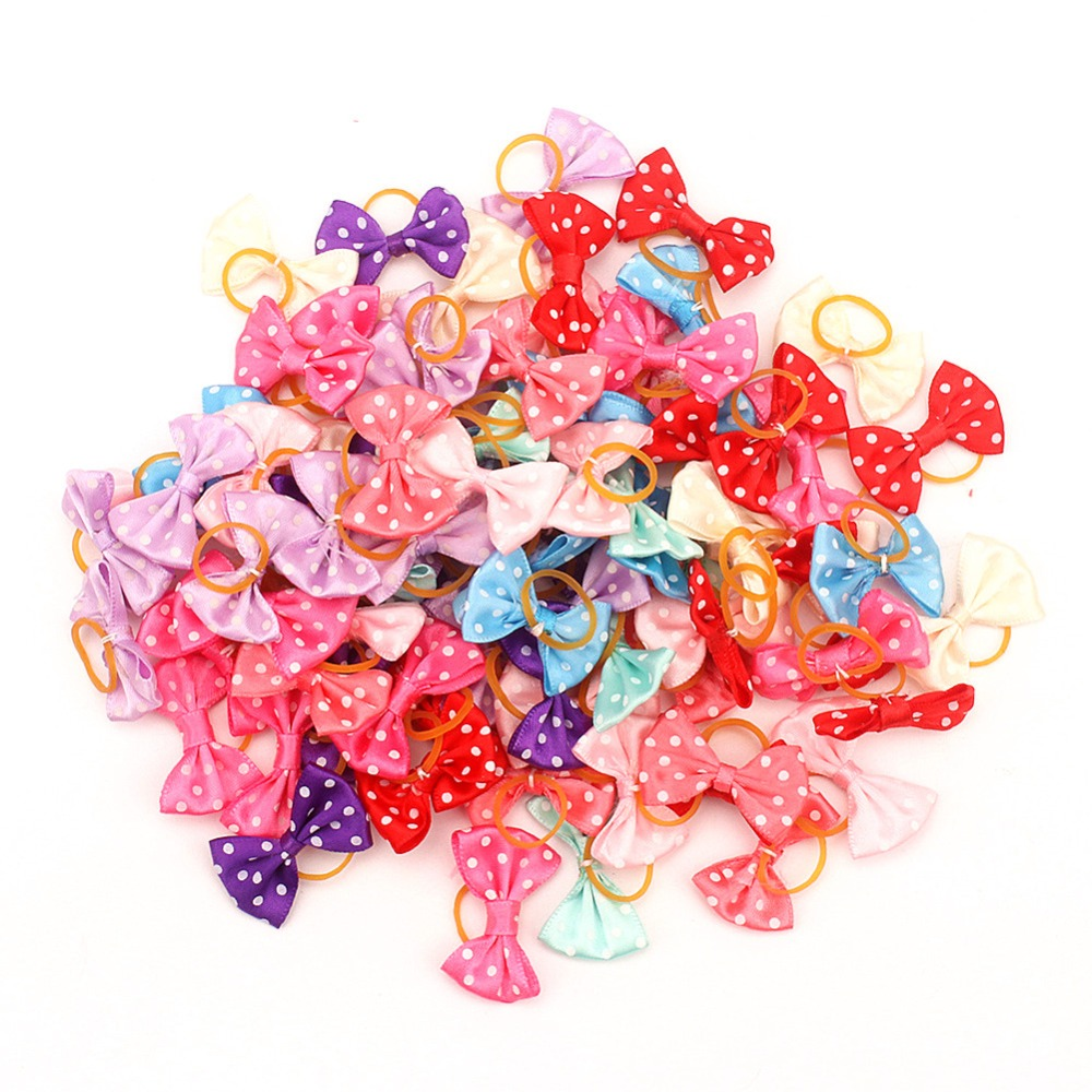 Small <font><b>Dogs</b></font> Bows Hair Grooming Puppy Accessories Supplies For Pets Hair Clips Grooming Yorkshire <font><b>Table</b></font> Bows honden strikjes image